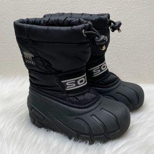 Sorel Waterproof Snow & Rain Boots Black Youth 8
